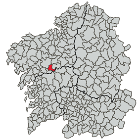 Location of Boqueixón within Galicia