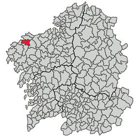 Location of Cabana de Bergantiños within Galicia