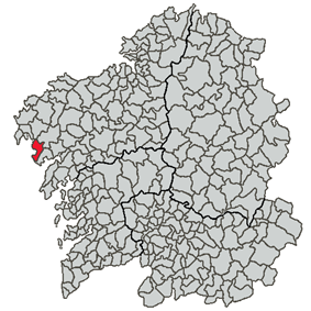Situation of Carnota within Galicia