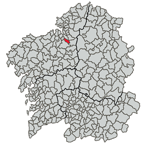 Location of Coirós within Galicia