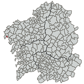Location of Corcubión within Galicia