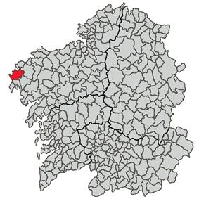 Location of Muxía within Galicia