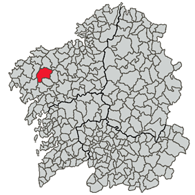Location of Santa Comba