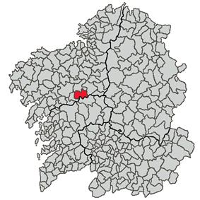 Location of Touro within Galicia