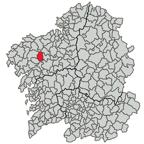 Location of Val do Dubra within Galicia