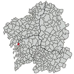 Location of Vilagarcía de Arousa within Galicia