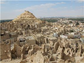Siwa Oasis has many mud-brick buildings