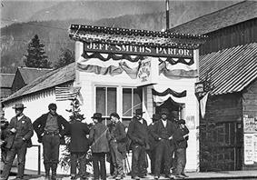 Jeff. Smiths Parlor, Soapy's base of operations1898, during the Klondike gold rush