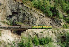 photo of train crossing US-Canada border