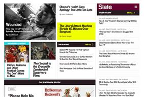 Slate's homepage