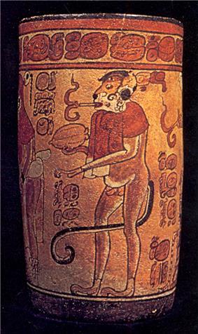 Maya vase.