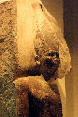 Limestone statue of Sneferu, Egyptian Museum