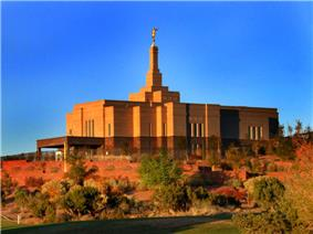 The LDS Temple in Snowflake