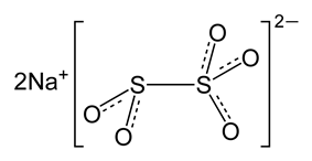 Structure of sodium metabisulfite