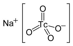 Structural formula of sodium pertechnetate
