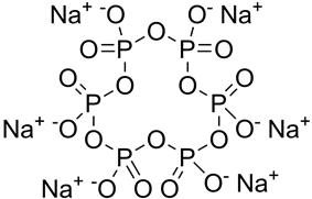 Skeletal formula of sodium hexametaphosphate