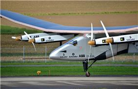 Solar Impulse, an electric aircraft circumnavigation the globe in 2015