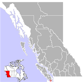 Location of Sooke in British Columbia