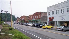 Main Street (West Virginia Route 16) in Sophia in 2007