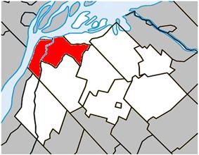 Location within Pierre-De Saurel RCM.