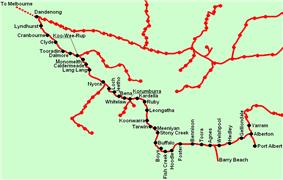 South Gippsland line map