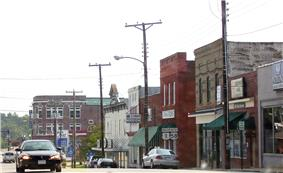 Route 1 in downtown South Hill