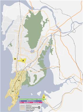 The South Mumbai precinct is shown in orange