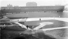 Game action at South Side Park, 1907