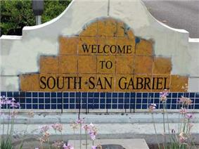 South San Gabriel welcome sign