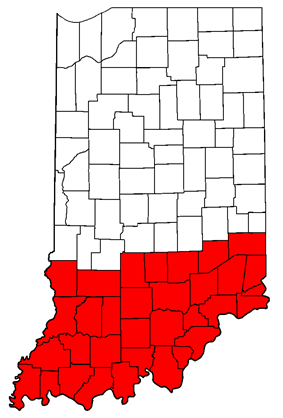 Map of Southern Indiana