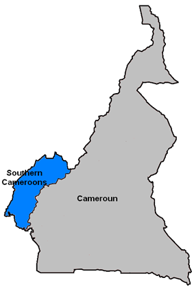 Location of Southern Cameroons