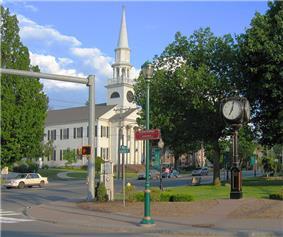 First Congregational Church in town center