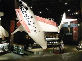 Feathered configuration of SpaceShipOne replica