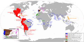 The areas of the world that at one time were territories of the Spanish Monarchy or Empire.