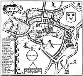 John Speed's plan of Ely, 1610