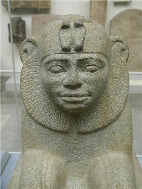 Granite sphinx of Taharqa from Kawa in Sudan
