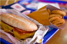 A Burger King spicy bean burger