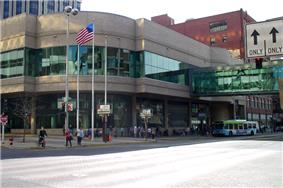The STA bus plaza in Downtown Spokane