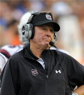 A picture of Steve Spurrier while coaching.