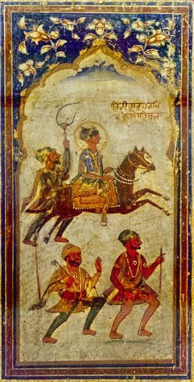 A fresco of Guru Har Krishan ca. 1745