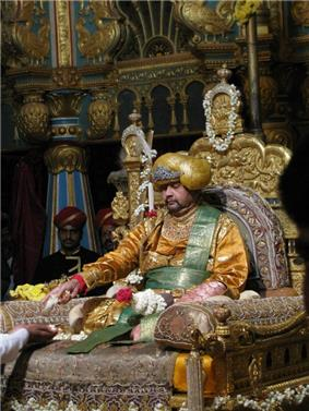 A photo of the Srikanta Datta Narasimharaja Wadiyar, scion of the Wodeyar dynasty