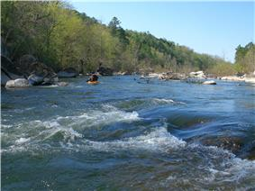 A kayaker on the St. Francis River.