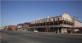 The St. James Hotel and a portion of Water Avenue in Selma