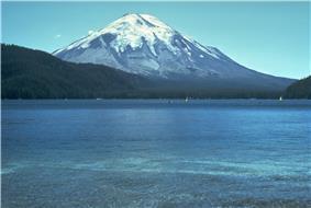 Mt St Helens before the 1980 eruption (taken from Spirit Lake)