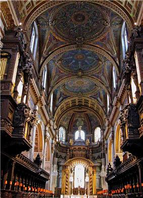 Mosaics adorn the interior of St. Paul's Cathedral in the City of London