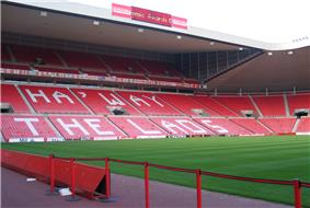 North Stand of Sunderland's Stadium of Light
