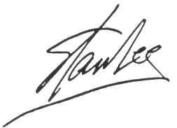 Signature of Stan Lee