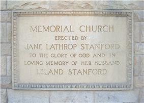 Rectangular dedication plaque, which states,