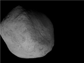 Tempel 1 from the Stardust-NExT spacecraft during closest approach.