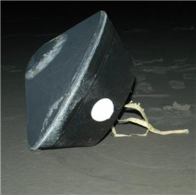 the landing capsule as seen on the ground at the Utah Test and Training range